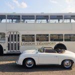 Trouwbus met Porsche 356