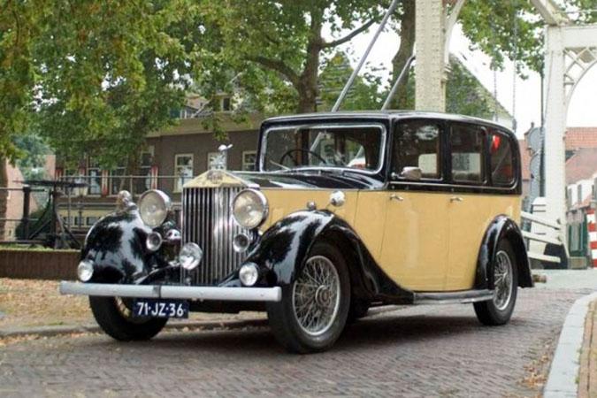 Rolls Royce Sedan De Ville Geel Zwart Trouwauto Uit 1935